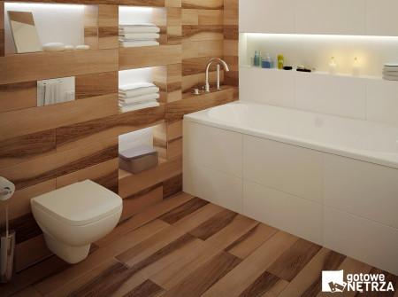 Funkcjonalna łazienka w stylu skandynawskim Reykjavik.