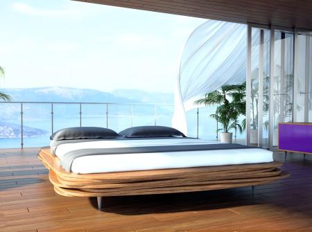 Organique - unikalne łóżko z drewna iglastego inspirowane naturą. Pomysłu Gie El.