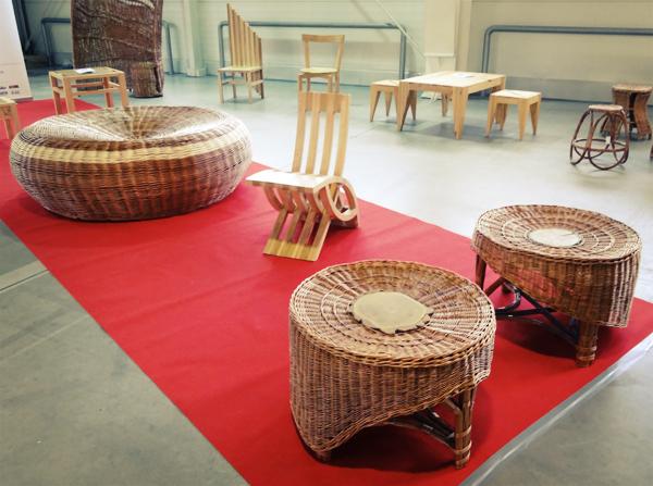 meble wykonane przez absolwentów liceum plastycznego w Nałączowie. Zahcwycający polski design