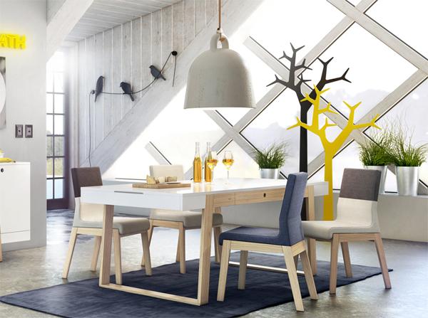 Nowoczesne krzesła tapicerowane w stylu skandynawskim. Świetnie współgrają w eleganckim oraz we wnętrzu z odrobiną szaleństwa. Komfortowe