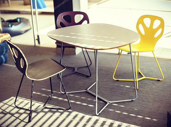Kolorowe krzesła drewniane do kawiarni. Krzesła Maple Iker