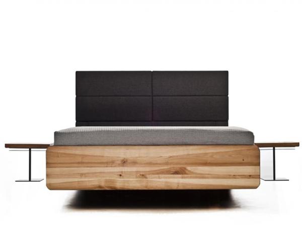 Łóżko boxspring producenta Mazzivo. Unikalne łóżko z litego drewna. Wymiary na zamówienie