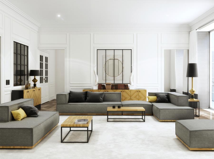 Stolik dębowy do klasycznego wnętrza na stalowych nogach w kolorze czarnym lub białym. Stolik wykonany z najwyższej jakości materiałów