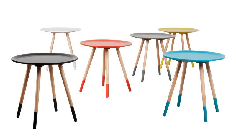 stolik two tones marki zuiver. Kolorowe stoliki kawowe do wnętrza w stylu skandynawskim