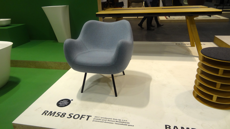 Fotel RM58 Soft Vzór ikona polskiego designu laureat Top Design 2017