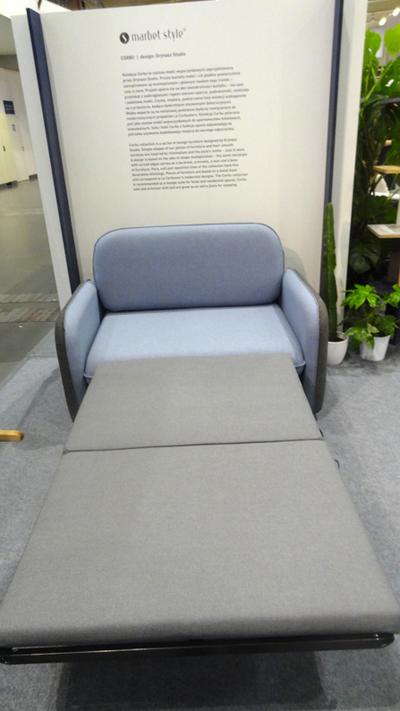 Fotel Corbu Marbet Style system rozkładania