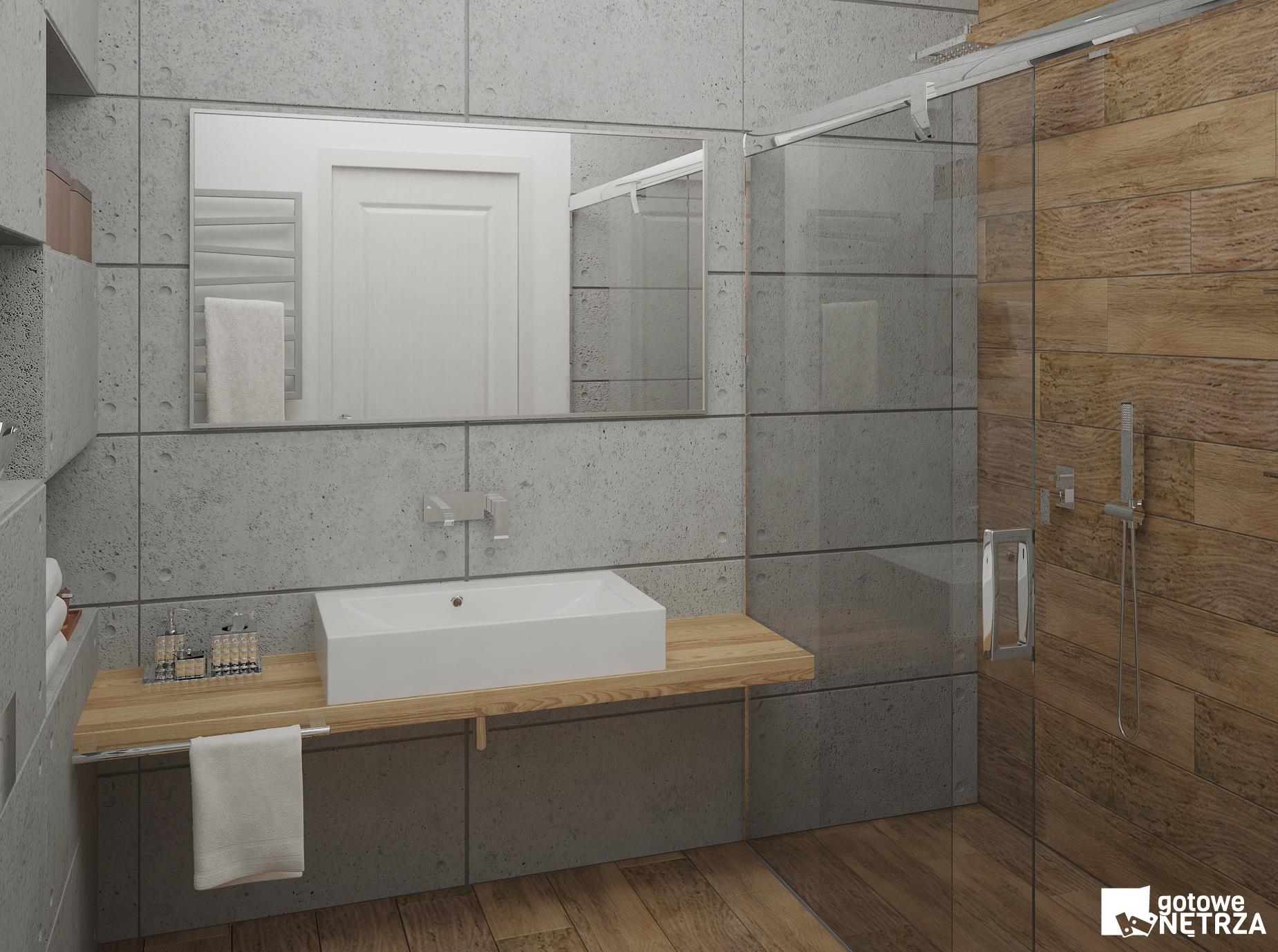 Łazienka z betonu architektonicznego z projektem gratis  Gotowe Wnętrza