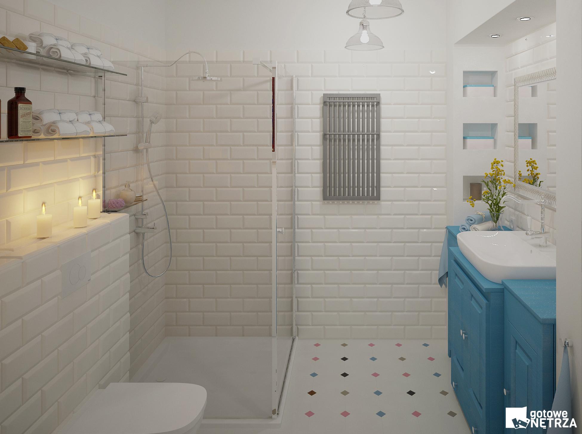 łazienka W Stylu Folk Z Projektem Gratis