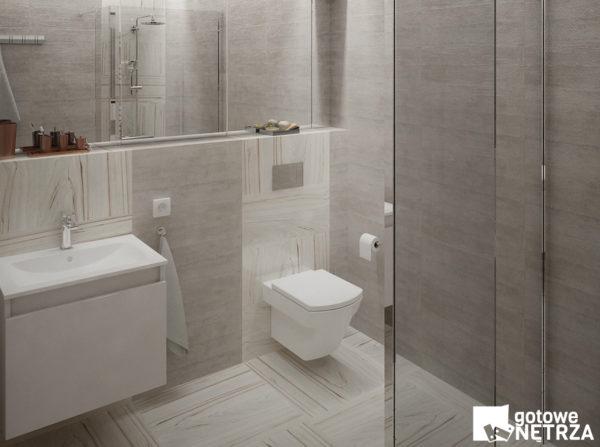 Elegancka, minimalistyczna łazienka Geneva.