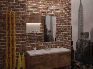 Oryginalna łazienka w stylu Loft, klimat miasta New York.