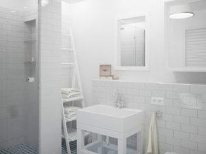 Łazienka Paris czyli połączenie stylu skandynawskiego ze stylem retro.
