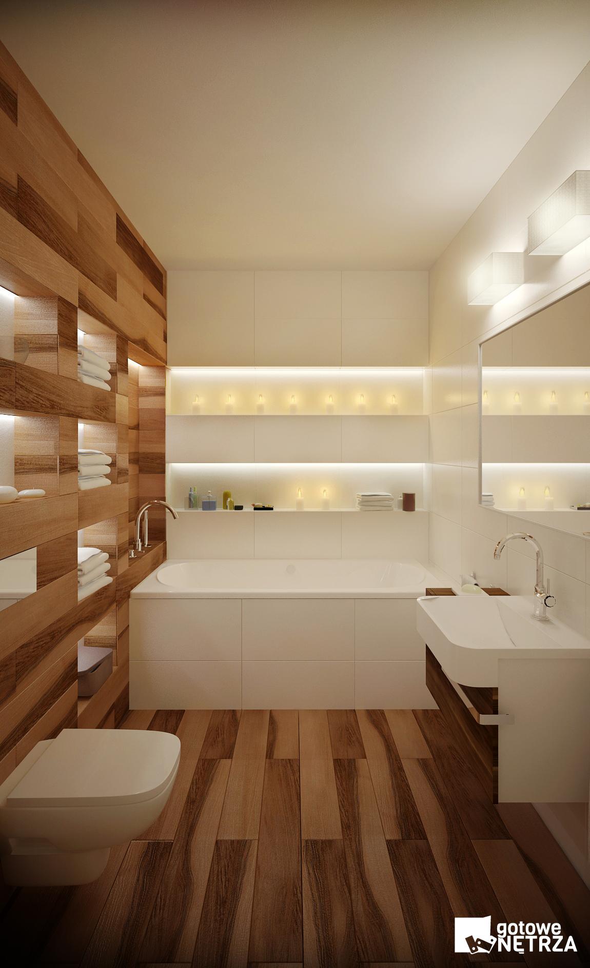 Łazienka w stylu skandynawskim z projektem gratis  Gotowe Wnętrza