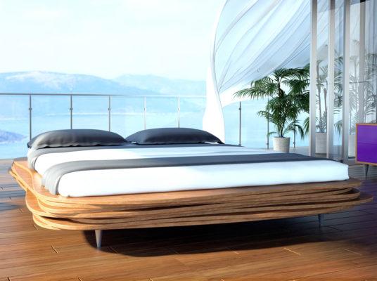 Łóżko Organique jest wykonane z naturalnego drewna drzewa iglastego. Zdjęcie na blog - temat: Jakie łóżko wybrać?