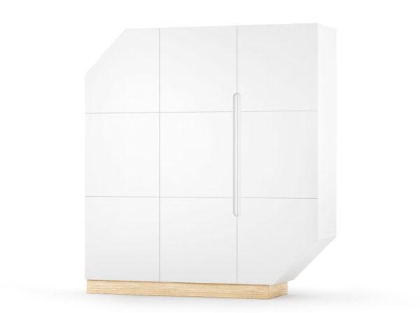 Duży kabinet z wieloma półkami to idealny mebel do przechowywania niezliczonej ilości przedmiotów. Kolor biały.