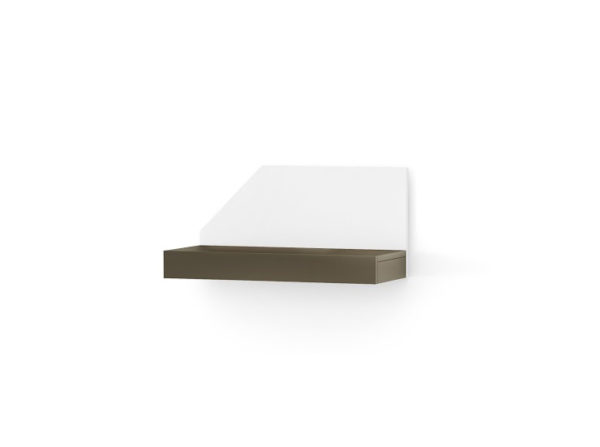 Modułowa półka w dwóch bazowych kolorach grafitowym oraz białym.