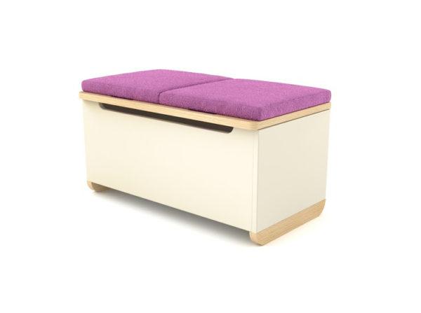 Pojemna i praktyczna skrzynia Toy Box w wersji z fioletowym materiałem.