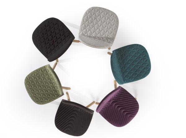 Krzesła Mannequin 01 Iker. Świetne krzesła tapicerowane do nowoczesnych kawiarni, jadalni czy salonów. Krzesła w stylu skandynawskim w klimacie vintage