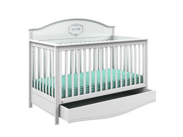 łóżeczko good night pure producenta bellamy. Najmodniejsze łóżeczko dziecięce na rynku z szufladą zmieniające się w tapczanik