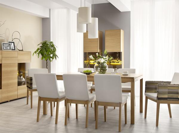 Nowoczesne krzesła tapicerowane skórą to niezawodny dodatek do naszego salonu. Krzesła w jednym kolorze pasują do klasycznych i eleganckich jadalni