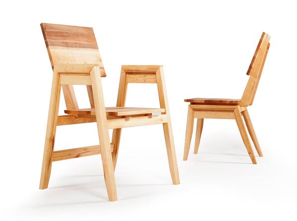 Krzesła z liteo drewna
