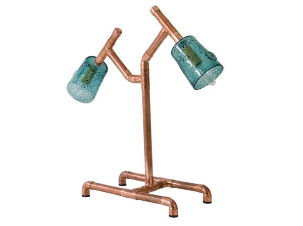 lampa wykonana z metalowych rurek w stylu loft wykonana przez polskich projektantów. Idealna do wnętrza w stylu loft