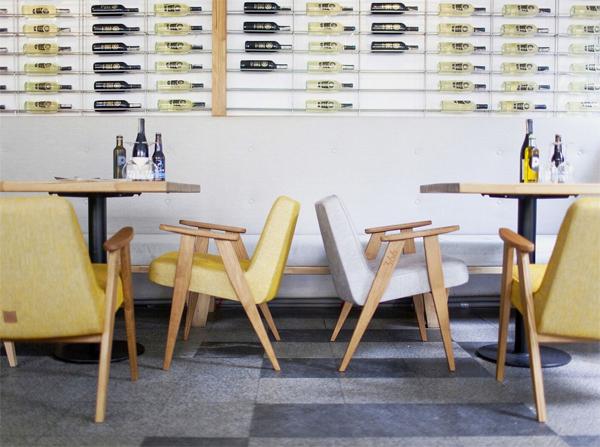 Fotel 366 w stylu vintage idealny do restauracji, kawiarni i klubów. Fotel model 366 to doskonały pomysł do komercyjnych wnętrz