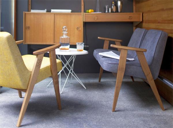 Fotel 366 i sofa 366 w stylu vintage. Idealne do małych mieszkań jak i dużych domów. Propozycja dla fanów polskiego dizajnu