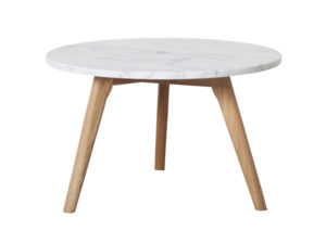 stolik stone zuiver. Stolik do wnętrz w stylu skandynawskim, Marmurowy blat połączony z drewnianymi nogami