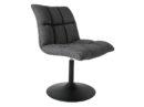 Krzesło Mini Bar producenta Dutchbone. Krzesło barowe longe chair obrotowe i tapicerowane w kolorze ciemnoszarym. Nowoczesne i stylowe krzesło barowebarowe