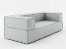 nowoczesna sofa trzyosobowa w szarym kolorze z kolekcji mebli modułowych. Modna sofa polskiego designu stworzona do minimalistycznego wnętrza. Sofa Noi z kolekcji producenta Absynth