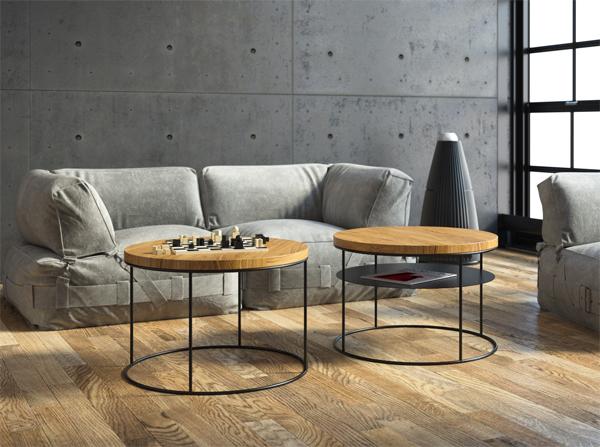 nowoczesny i okrągły stolik kawowy do salonu
