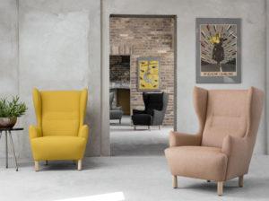 Fotel Muno Marbet Style. Piekny i stylowy fotel polskiego designu. Projektanci Grynasz Studio. Komfortowy fotel dostepny w wielu materiałach i kolorach. Do fotela Muno pasuje podnóżek Muno