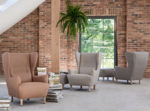 Muno Marbet Style komfortowy fotel z wysokim oparciu w stylu skandynawskim