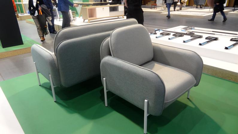 Fotel i sofa Corbu Marbet Stule projektu Grynasz Studio