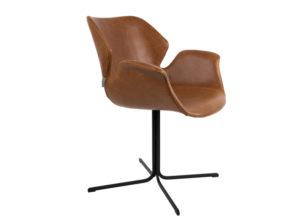 Fotel Nikki brązowy Zuiver