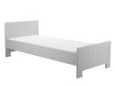 Łóżko Calmo Pinio w kolorze szarym. Szare łóżko tapczanik dla dziecka
