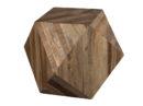 Stolik kawowy Geo Dutchbone. Oryginalny drewniany stolik kawowy w kształcie heksagonu.