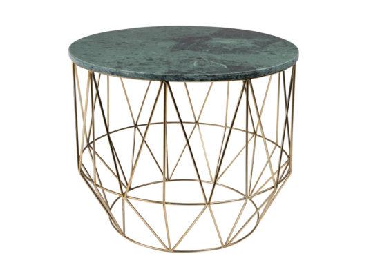 Marmurowy stolik kawowy na mosiężnych nogach wykonanych z rurek. Oryginalny stolik Boss Dutchbone