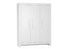 Szafa trzydrzwiowa Calmo Pinio w kolorze białym. Duża i pojemna szafa do pokoju dziecka lub do sypialni