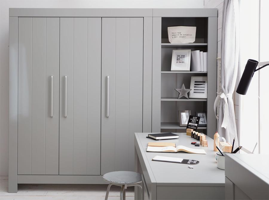 szafa trzydrzwiowa calmo szara pinio gotowe wn trza. Black Bedroom Furniture Sets. Home Design Ideas
