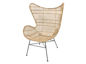 Komfortowy fotel wykonany z naturalnego rattanu. Fotel kultowego producenta HK Living Bohemian EGG