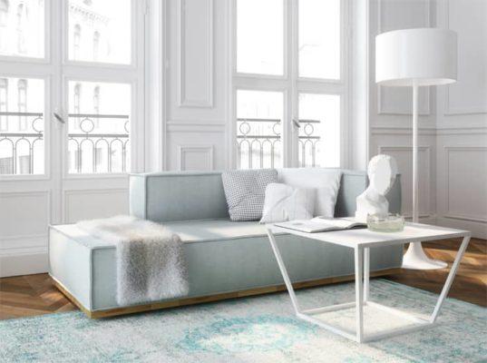 Biały stolik wykonany z marmuru. Zachwyca oryginalnością i jakością