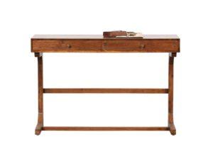 Biurko Old School drewniane brązowe Be Pure