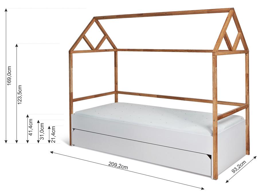 łóżko Domek 90200 Z Szufladą Lotta Bellamy Gotowe Wnętrza