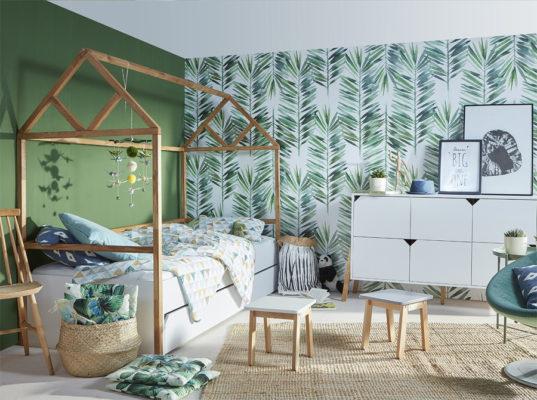 Łóżko domek do pokoju dziecka. Wykonane z drewna bukowego. Łóżko w stylu skandynawskim stworzone do pokoju kilkulatka. Łóżko Lotta producenta Bellamy
