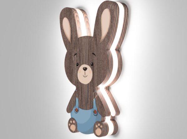 Drewniana lampka króliczek Kids Lamp