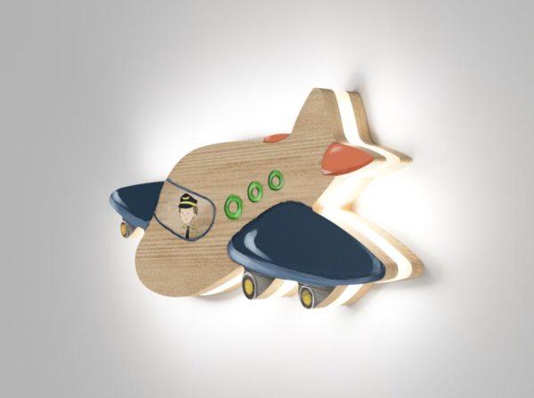 Drewniana lampka samolot Kids Lamp