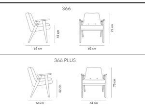 Fotel 366 wymiary 366 Concept
