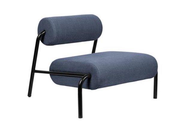 Fotel Lekima ciemnoniebieski Zuiver