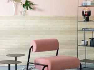 Fotel Lekima różowy Zuiver